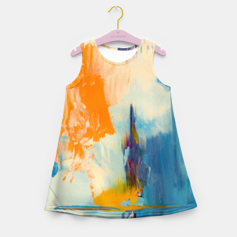 Miniatur Abstract Patches Girl's summer dress, Live Heroes