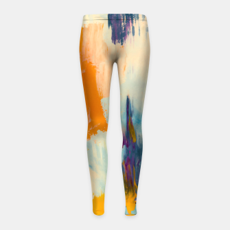 Miniatur Abstract Patches Girl's leggings, Live Heroes