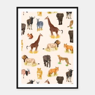 Imagen en miniatura de Safari Sightings Framed poster, Live Heroes