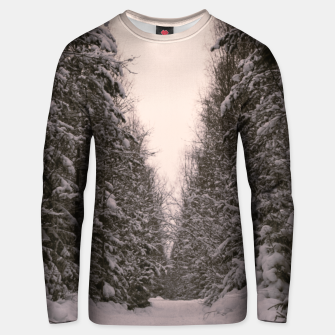 Thumbnail image of Snowy road Unisex sweater, Live Heroes