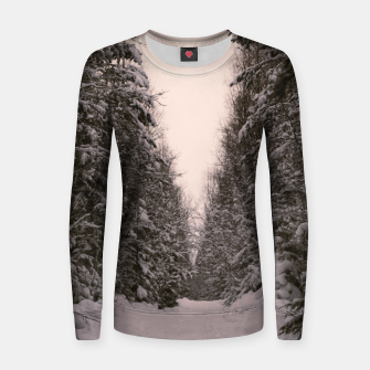 Thumbnail image of Snowy road Women sweater, Live Heroes