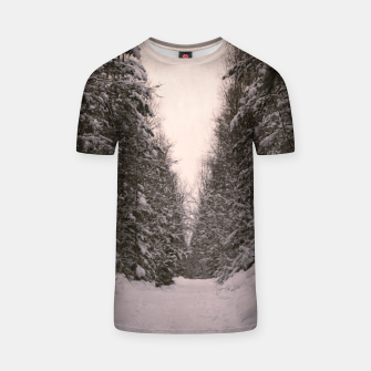 Thumbnail image of Snowy road T-shirt, Live Heroes