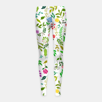 Thumbnail image of Spring Is Here Girl's leggings, Live Heroes