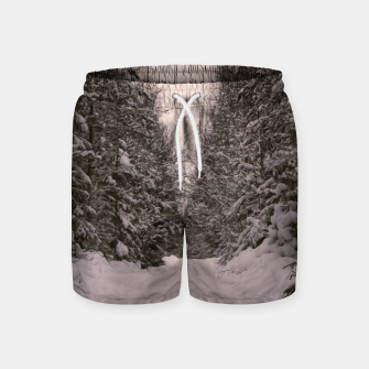Thumbnail image of Snowy road Swim Shorts, Live Heroes