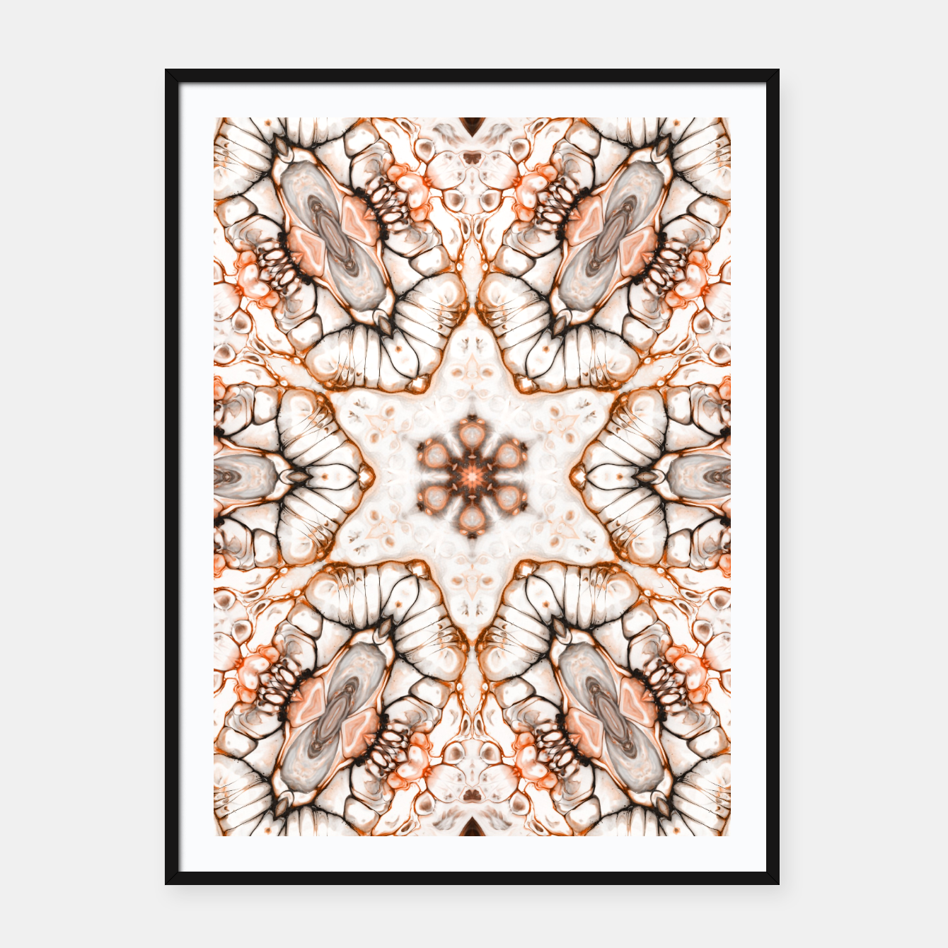 Image of Future Abstract Framed poster - Live Heroes