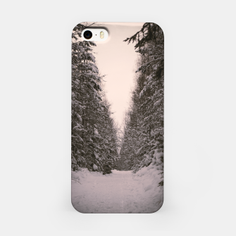 Thumbnail image of Snowy road iPhone Case, Live Heroes