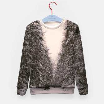 Thumbnail image of Snowy road Kid's sweater, Live Heroes