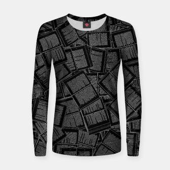 Thumbnail image of Literary Overload II book lovers pattern Women sweater, Live Heroes