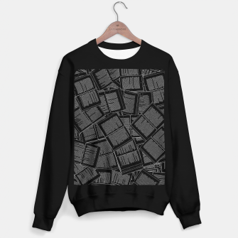 Thumbnail image of Literary Overload II book lovers pattern Sweater regular, Live Heroes