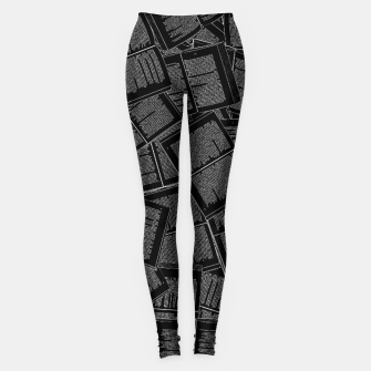 Thumbnail image of Literary Overload II book lovers pattern Leggings, Live Heroes