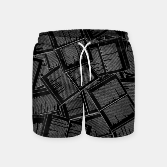 Thumbnail image of Literary Overload II book lovers pattern Swim Shorts, Live Heroes