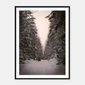 Thumbnail image of Snowy road Framed poster, Live Heroes