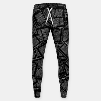 Thumbnail image of Literary Overload II book lovers pattern Sweatpants, Live Heroes