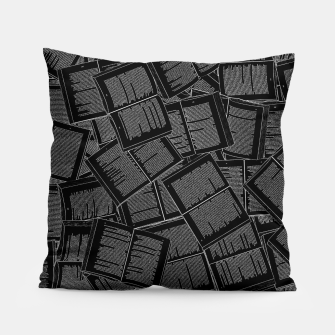 Thumbnail image of Literary Overload II book lovers pattern Pillow, Live Heroes