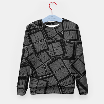 Thumbnail image of Literary Overload II book lovers pattern Kid's sweater, Live Heroes