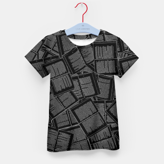 Thumbnail image of Literary Overload II book lovers pattern Kid's t-shirt, Live Heroes