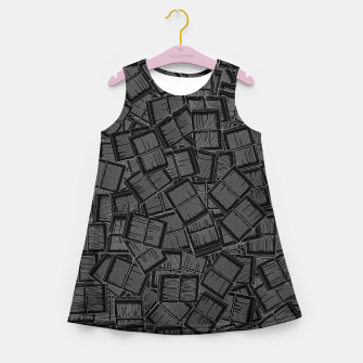 Thumbnail image of Literary Overload II book lovers pattern Girl's summer dress, Live Heroes