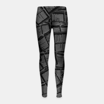 Thumbnail image of Literary Overload II book lovers pattern Girl's leggings, Live Heroes