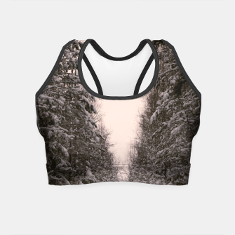 Thumbnail image of Snowy road Crop Top, Live Heroes