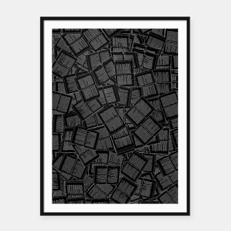 Thumbnail image of Literary Overload II book lovers pattern Framed poster, Live Heroes