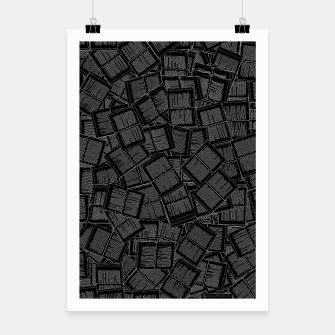 Thumbnail image of Literary Overload II book lovers pattern Poster, Live Heroes