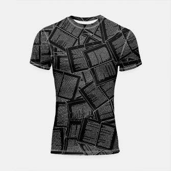 Thumbnail image of Literary Overload II book lovers pattern Shortsleeve rashguard, Live Heroes