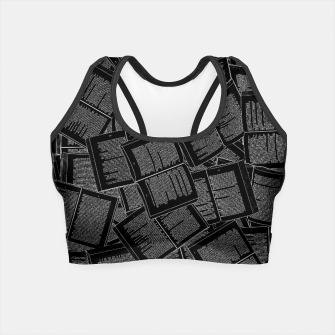 Thumbnail image of Literary Overload II book lovers pattern Crop Top, Live Heroes