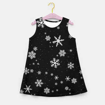 Miniaturka Snowflakes Girl's summer dress, Live Heroes