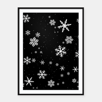 Thumbnail image of Snowflakes Framed poster, Live Heroes