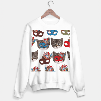 Thumbnail image of Mask and cute lovely cat pattern Sweater regular, Live Heroes