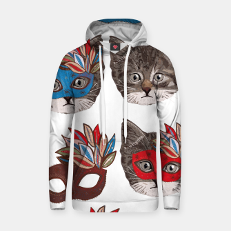 Thumbnail image of Mask and cute lovely cat pattern Hoodie, Live Heroes