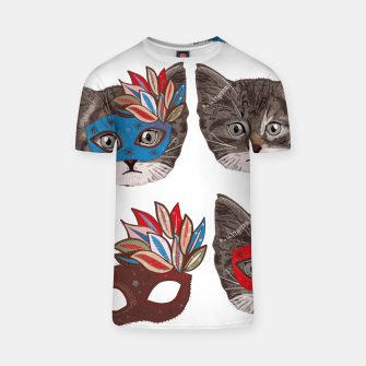 Thumbnail image of Mask and cute lovely cat pattern T-shirt, Live Heroes
