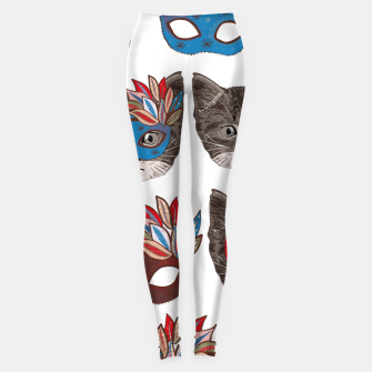 Thumbnail image of Mask and cute lovely cat pattern Leggings, Live Heroes