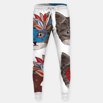 Thumbnail image of Mask and cute lovely cat pattern Sweatpants, Live Heroes