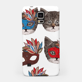 Thumbnail image of Mask and cute lovely cat pattern Samsung Case, Live Heroes