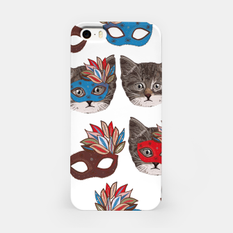 Thumbnail image of Mask and cute lovely cat pattern iPhone Case, Live Heroes