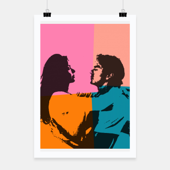 Thumbnail image of  Street art love Poster, Live Heroes