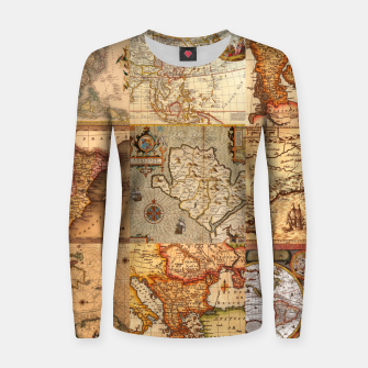 Old maps Women sweater thumbnail image