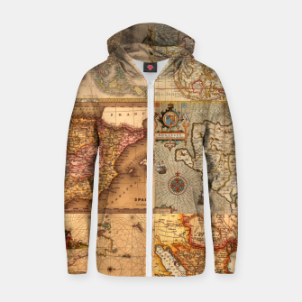 Miniaturka Old maps Zip up hoodie, Live Heroes