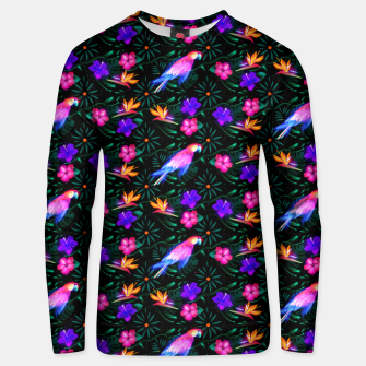 Thumbnail image of parrots in the jungle Unisex sweater, Live Heroes