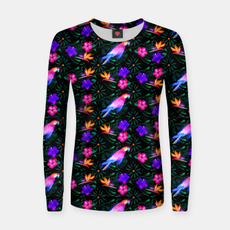 Thumbnail image of parrots in the jungle Women sweater, Live Heroes