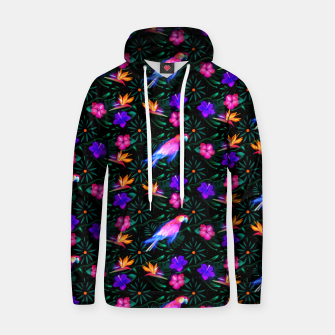 Thumbnail image of parrots in the jungle Hoodie, Live Heroes