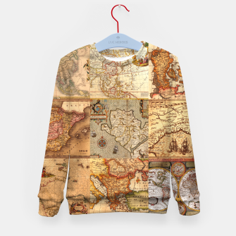 Miniaturka Old maps Kid's sweater, Live Heroes
