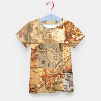 Thumbnail image of Old maps Kid's t-shirt, Live Heroes