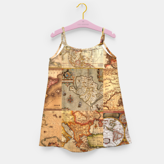 Miniaturka Old maps Girl's dress, Live Heroes