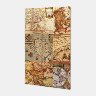Thumbnail image of Old maps Canvas, Live Heroes