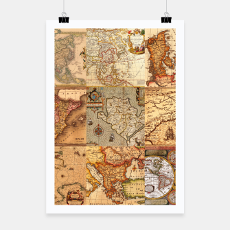 Thumbnail image of Old maps Poster, Live Heroes