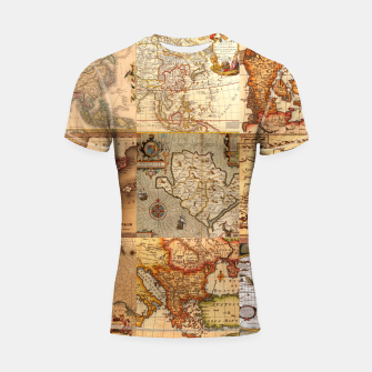 Thumbnail image of Old maps Shortsleeve rashguard, Live Heroes
