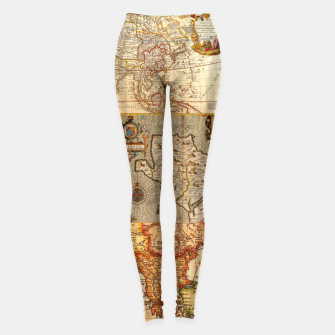 Thumbnail image of Old maps Leggings, Live Heroes