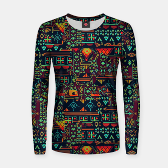 Thumbnail image of Cheerful ethnic Women sweater, Live Heroes